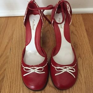 Anne Michelle Cherry Red Mary Janes